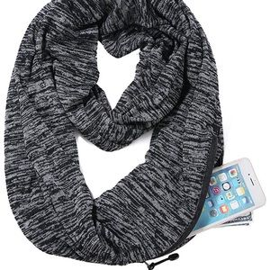 Travel Infinity Scarf w/ Hidden Zipper Pocket